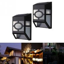 Led Solar Light Outdoor Waterproof Garden Decoration Wall Mount 2 LED Lights Lamp Outdoor Landscape Garden Yard Fence