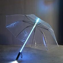 Cool Fashion 4 color sale LED umbrella Umbrella rain women men Light Flash Umbrella Night Protection Gift Multicolor for Choos(China)