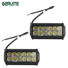 2Pcs 2520Lm 36W High Power Waterproof LED Offroad Work Light Off Road Driving Light with 12pcs 3W LED for Car Truck Boat(China)
