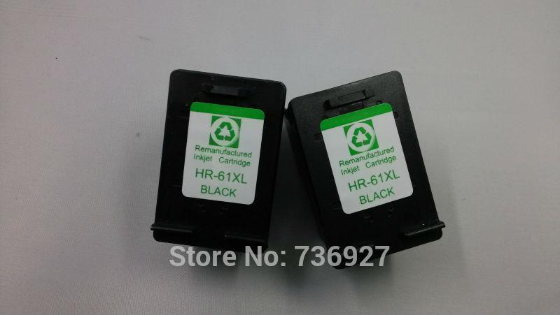 2pcs for hp ink cartridge 61xl black suit for DeskJet 1056 1510  1511 1512  1513 DeskJet 1000 DeskJet 1010 1050 1051 1055<br><br>Aliexpress
