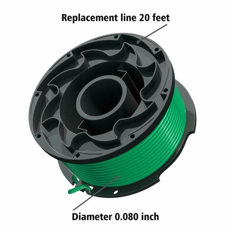 FutureWay Weed Eater Spools Compatible with Black Decker GH3000 0.08 String Trimmer Replacement Lines for SF-080 8 Spools and 1 Cap GH3000R LST540