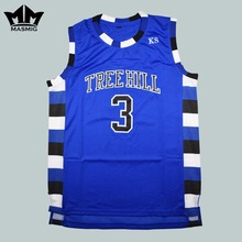 MM MASMIG One Tree Hill Lucas Scott 3 Ravens Basketball Jersey Blue S-3XL(China)