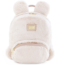ENSSO Winter New Fresh Rabbit Ear Girl's Pink Faux PU Faux Fur Women's Metal Logo Shoulder Satchels Backpack Book School Bags