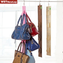 Cloth Hanging Wall Bag Access Bar Post Hung Organizer Multi-Layer Wall Wardrobe 3 Colors 2 Styles Of Storage Strip(China)