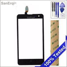 SanErqi Tested  for Nokia lumia 625 LCD Display touch panel touchscreen Black For Nokia 625 Front Panel Touch Screen Digitizer