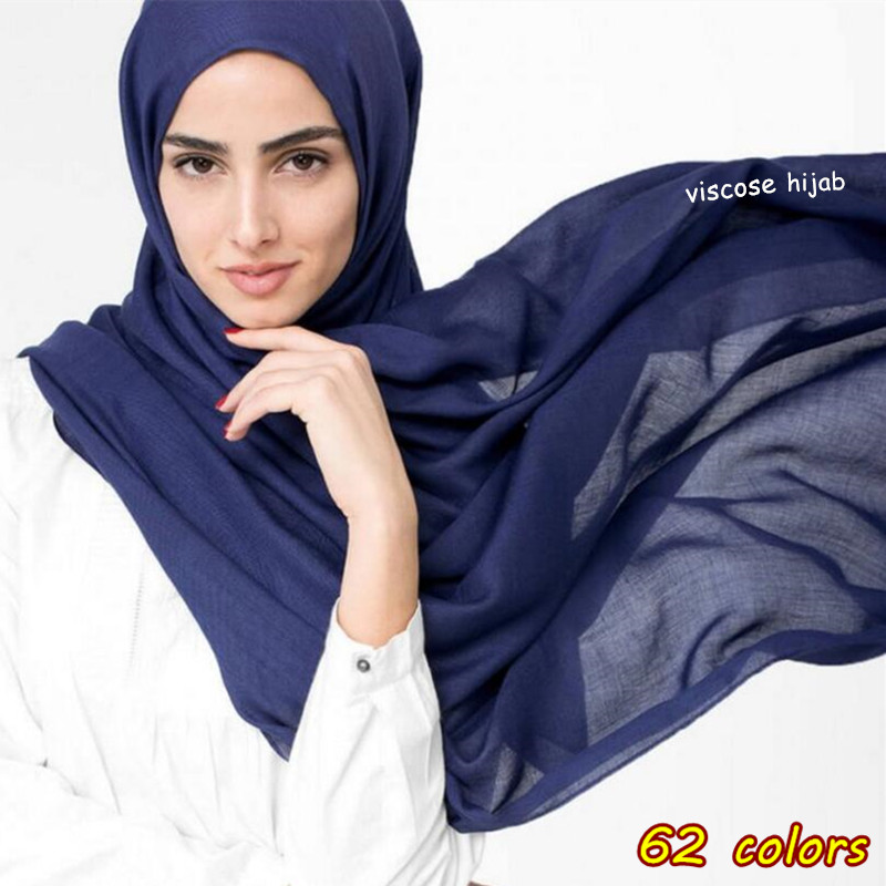 hot sale scarves Women Plain Maxi Hijab scarf soft Soild muslim shawls wraps lady viscose head scarfs Fashion pashmina scarves