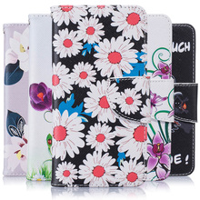 Luxury PU Leather Cell Phone Flip Case Cover For Apple iPhone 7 7G iphone7 iphone7G Phone Cases Wallet Skin Delicate Flowers Bag