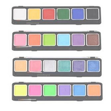 Free shipping 6g/grid 24color/lot Luckyart Face body Paint Color Standard fluorescent pearl(China)