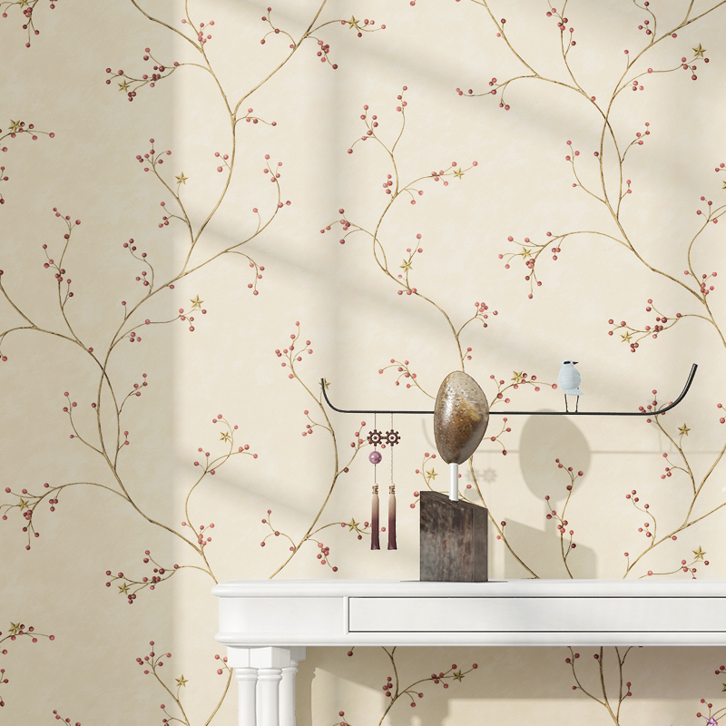 PAYSOTA Cherry Tree Wallpaper Bedroom Living Room  TV Sofa Background Nonwoven Wall Paper Roll<br>