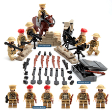 6pcs Doll ARMED ASSAULT Empire US Army WORLD WAR 2 Military SWAT Weapon Soldier Navy Seals Building Blocks Kids Toys Brick