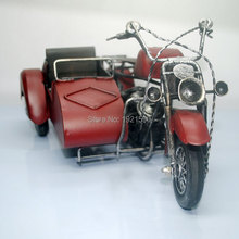 Brand New Vintage Motor Tricycle Handmade Metal Motorcycle Model Toy For Collection/Gift/Decoration