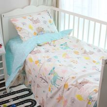120*60cm 130*70cm cute Baby crib bedding set 100% cotton included flat sheets baby bedding Clouds Pine crown Pattern for girls(China)