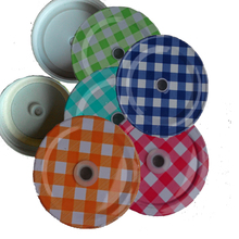 Drinking glass Metal lids , Mason jar Hole Lids for Kids Parties birthday Baby Showers Accessories(China)