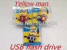 100% real capacityYellow Man Flash Drive WORLD CUP soccer jersey USB 2.0 usb Flash drive Disk Memory Stick Drive Pen BN3 28% OFF