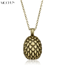 MQCHUN Game of Thrones Dragon Egg Necklace Ice and Fire Song Men Fashion Metal Classic Pendant Necklace Christmas Halloween Gift(China)
