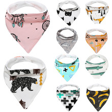 New 10 Patterns Skin Aprons Eat Baby Bibs Cotton Bandana Feeding Saliva Bavoir Towel Triangle Waterproof Babador Baberos Slabber