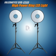 FalconEyes Super Power LED Ring Light Video Studio Light w/630pcs LEDS + Light Stands for Canon Nikon Sony DSLR