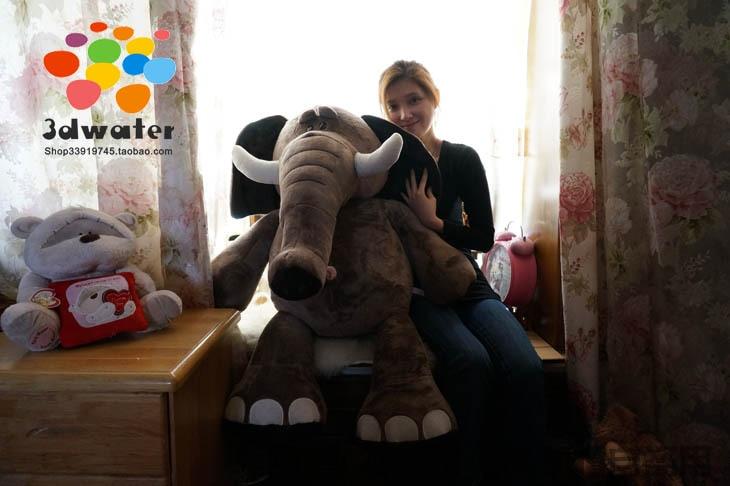 Stuffed animal 110cm elephant plush toy soft doll throw pillow gift w2850<br><br>Aliexpress