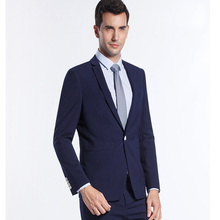 Royal Blue Men Suit Classic Business Suit Slim Fit for Men Bridegroom Evening Business Prom Party Suits 2Pieces (Jacket+Pants)(China)
