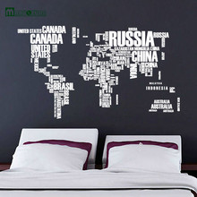 2017 Maruoxuan And Colorful Letter World Map Removable Vinyl Decals Mural Living Room Office Decoration Wall Sticker Home Decor