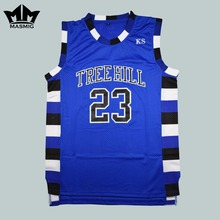 MM MASMIG One Tree Hill Nathan Scott 23 Ravens Basketball Jersey Blue Free Shipping S M L XL XXL XXXL(China)