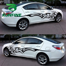 KUNFINE One Pair Universal Fashion Car Sticker Decals Fire Flame Decor Vinyl Decoration Stickers Auto Styling Waterproof