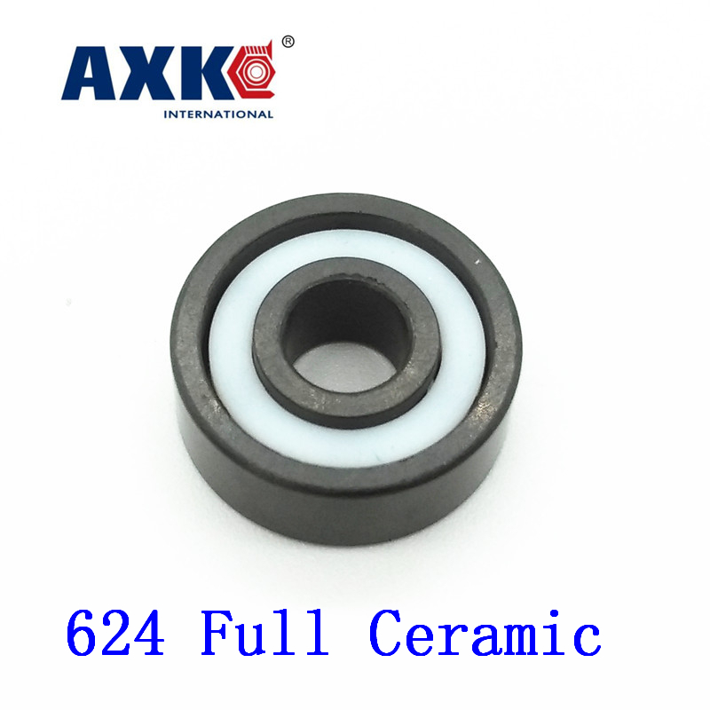 Axk 624 Full Ceramic Bearing ( 1 Pc ) 4*13*5 Mm Si3n4 Material 624ce All Silicon Nitride Ceramic Ball Bearings<br>