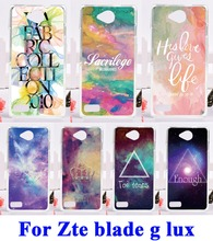 AKABEILA Hard Plastic&Soft TPU Phone Cases For ZTE Blade G Lux Kis 3 Max V830 Silicone Back Cover DIY Back Shield Hood Star Sky(China)