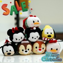 The new couple tsum tsum zootopia toys Christmas holiday gift lover plush doll doll car pendant mobile phone accessories