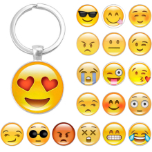 LNRRABC Emoji Expression Phone Pendant Women Keychain Ball Cell Phone Car Keychain Pendant Bag Buckle Charm Key Ring Gift