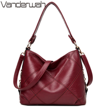 VANDERWAH Lady Top-handle bags handbags women famous brands female Embroidery casual Big shoulder bag Tote for girls SAC A MAIN(China)