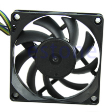 70mm x 15mm Brushless Fan DC 12V 4 Pin 9 Blade Cooling Cooler Brushless PC Computer Case Cooler Cooling Fan #K400Y#