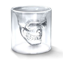 Hot Transparent Crystal Skull Head Shot Glass Cup For Whiskey Wine Vodka Bar Club Home Drinking Ware