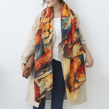 CN-RUBR 2017 Women Scarf Spring Winter Wool Cashmere Scarves Soft Comfortable Long Warm New Stylish European Style Print Shawls