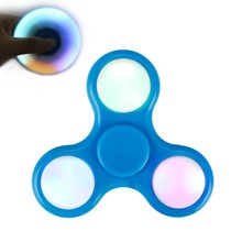 Hand LED Light Spinner Fidget Plastic EDC Spinner For Autism and ADHD Relief Focus Anxiety Stress Gift Toys Hot Sale