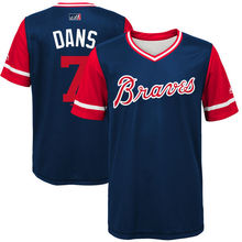 "MLB Youth Atlanta Braves Dansby Swanson ""Dans"" Baseball Navy 2017 Players Weekend Jersey(China)"