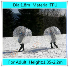 1.8m TPU inflatable bumper ball for adult,Loopy zorb ball for sale,inflatable human hamster ball, bubble bumpers soccer football
