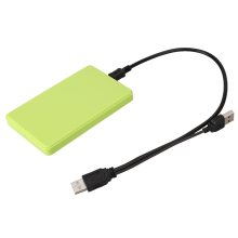 "USB 2.0 2.5"" SATA HD Hard Disk Drive HDD SSD External Case Enclosure Box Caddy up 2tb for Mac OS Notebook Laptop PC Green(China)"