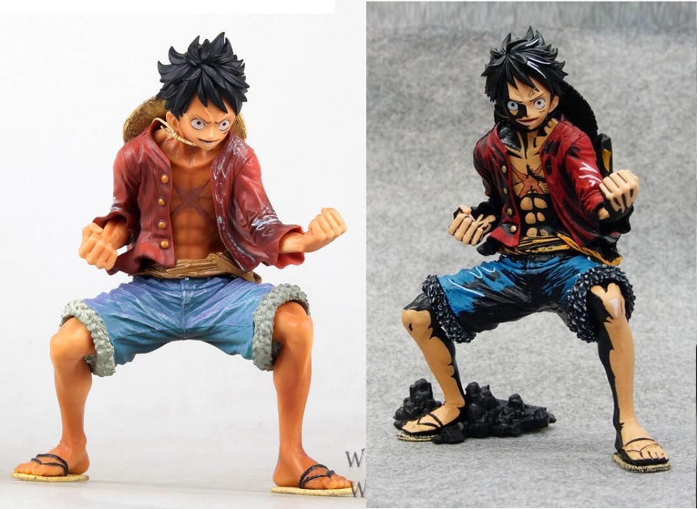 2pcs/set One Piece King modeling Luffy 2 files  1/7 Scale Clay Action Figure Collectible Model Toy 20CM Boxed Free Shipping<br>