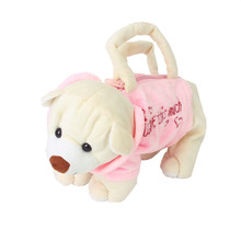 Cute Bear Shape Purse Bag Handbag Zipper Child Plush Soft Toy-Pink Beige Plush Backpacks Toys Accessories Creative  Child Gifts