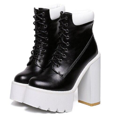 lace up boots women pumps winter autumn shoes women boots short high heels motorcycle women ankle boots platform boots D180<br><br>Aliexpress