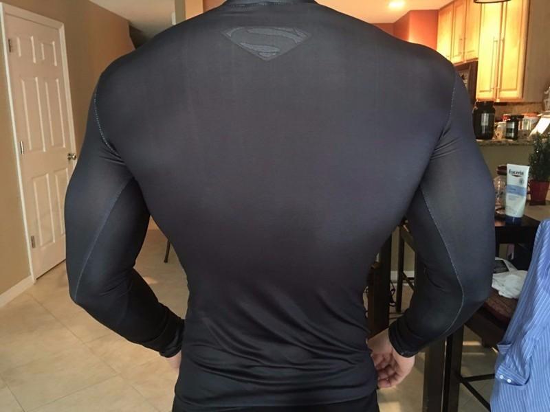 Marvel Gyms Clothing Fitness Compression Shirt Men Batman t-shirt men Long Sleeve 3D t shirt men Crossfit Tops tee shirt homme 6