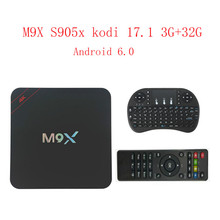New M9X network set-top box amlogic S905x kodi 17.1 3G+32G 4K Android 6.0 network ultra clear player smart tv box android tv box(China)