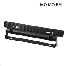 Universal Race Carbon Fiber Look License Plate Frame Adjust Angle Mount Bracket fit for Toyota Corolla Camry Vios MO MO PAI