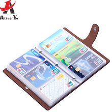 ATTRA-YO Card Holder brand High Quality women&men cards bags name ID Business Leather 96 Bank credit Card Case new LM4247ay2(China)