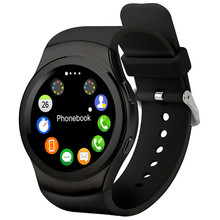 No.1 G3 Round Smart Watch  Bluetooth Sim with TF Card siri Heart Rate monitor Wristwatch for Android iOS phones
