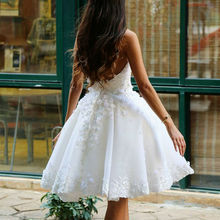 Romantic Sweetheart Lace Wedding Short Dresses 2017 Destination Wedding Gowns