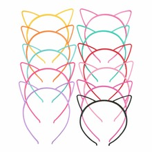 10PCS Lady Fashion Headband Baby birthday party props cat ears girl headwear hair hoop accessories for women Hairbands kids band(China)