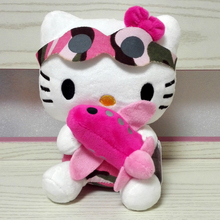 New arrival Sanrio Hello Kitty Toys Super Soft Stuffed Kitty Holding Plane 18cm mini size Cat doll Best gift for children