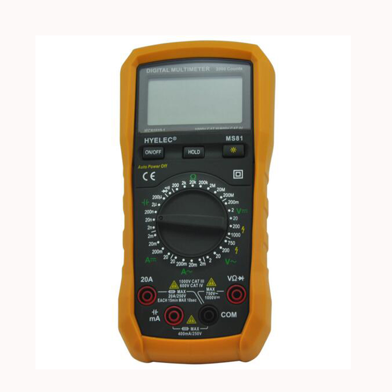 Multitester DMM Digital Meter Capacitance Tester w/ Back light Analog Current Voltage Ammeter Tester meter MS81<br><br>Aliexpress